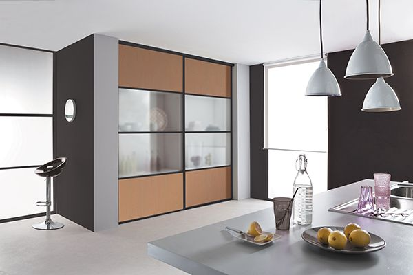 kazed portes de placard coulissantes karacter 3 m lamin. Black Bedroom Furniture Sets. Home Design Ideas