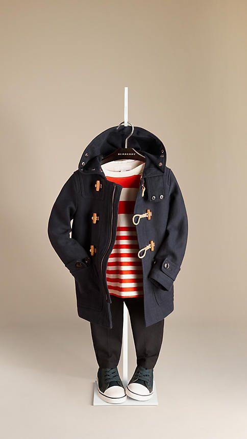 Cotton Jersey Duffle Coat | Burberry