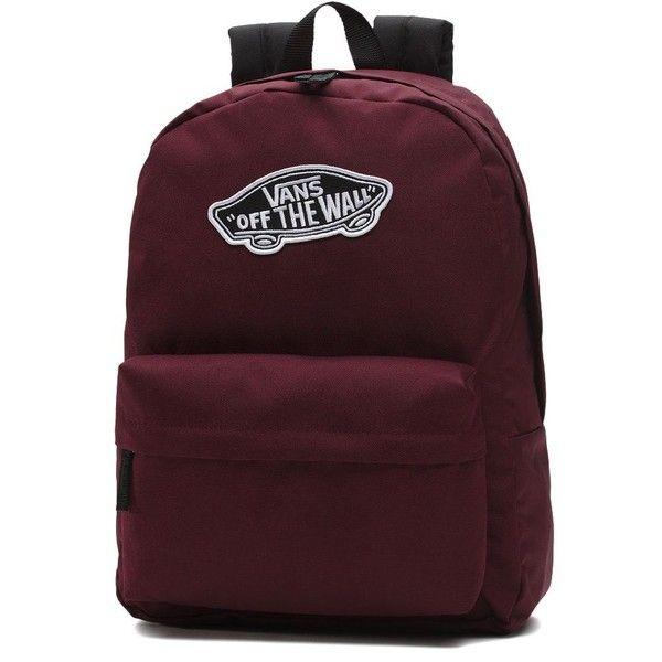 Vans Realm Backpack ($35) ❤ liked on Polyvore featuring bags, backpacks, brown bag, rucksack bags, vans backpacks, day pack backpack and pocket bag