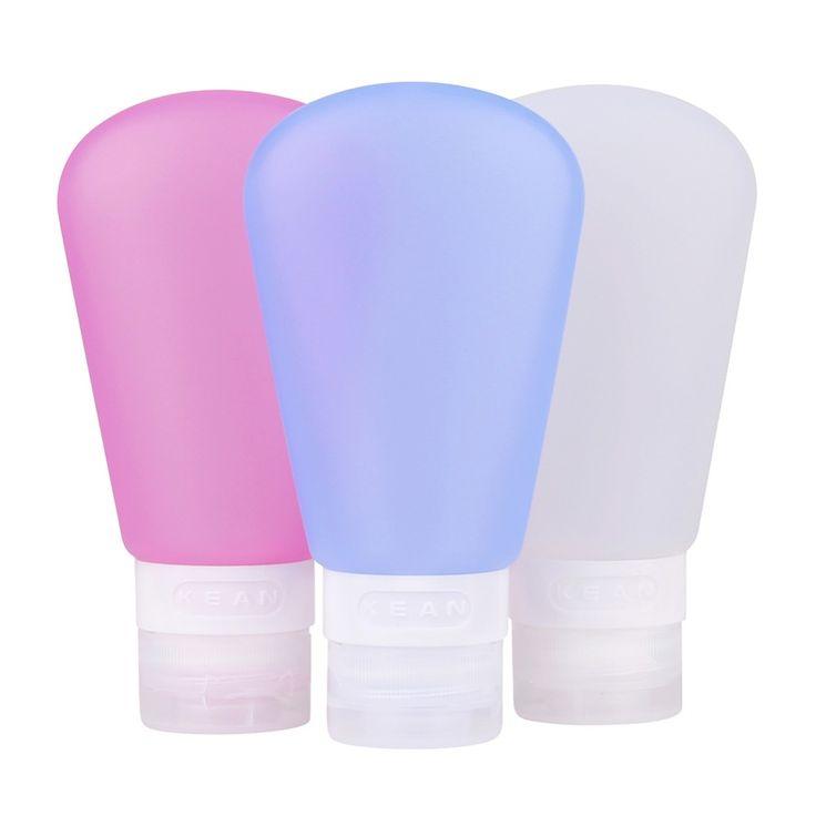 1 st Siliconen Reizen Flessen Hervulbare Cosmetische Containers Waaiervormige Squeezable Lekvrij Herbruikbare Containers