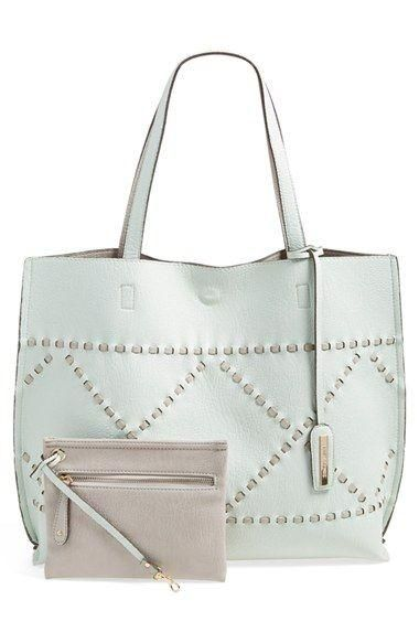 Reversible Woven Faux Leather Tote. In Stock, Price: $47.58.  #leather_handbags   #white_handbags