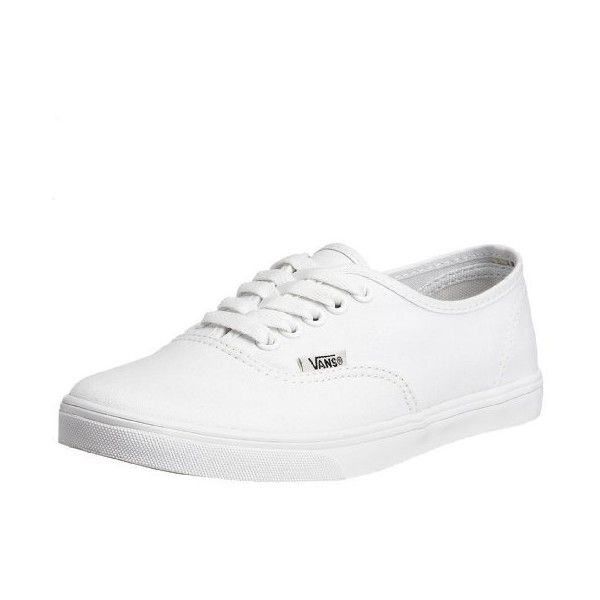 Vans Authentic Lo Pro Unisex Skate Shoes (105 BRL) ❤ liked on Polyvore featuring shoes, sneakers, white canvas shoes, skate shoes, wide skate shoes, white skate shoes and white sneakers