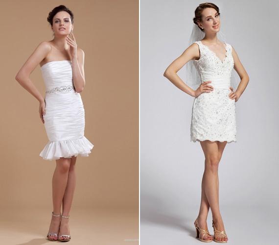 Csodaszép, rövid esküvői ruhák | retikul.hu