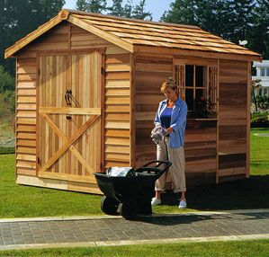 """The Rancher is Cedarshed's best-selling storage shed. Its 60"""" wide double door is great for accommodating large items. Available in 10 sizes from 6x6 to 10x20."""
