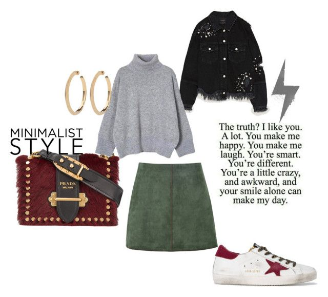 Fall style by paula-wallin on Polyvore featuring George J. Love, Golden Goose, Prada and Fall
