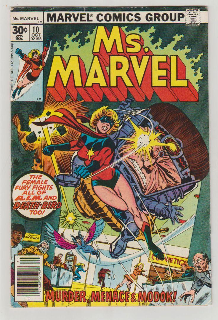 Ms. Marvel; Vol 1, 10 Bronze Age Comic Book.  VF- (7.5). October 1977.  Marvel Comics #msmarvel #comicsforsale #caroldanvers