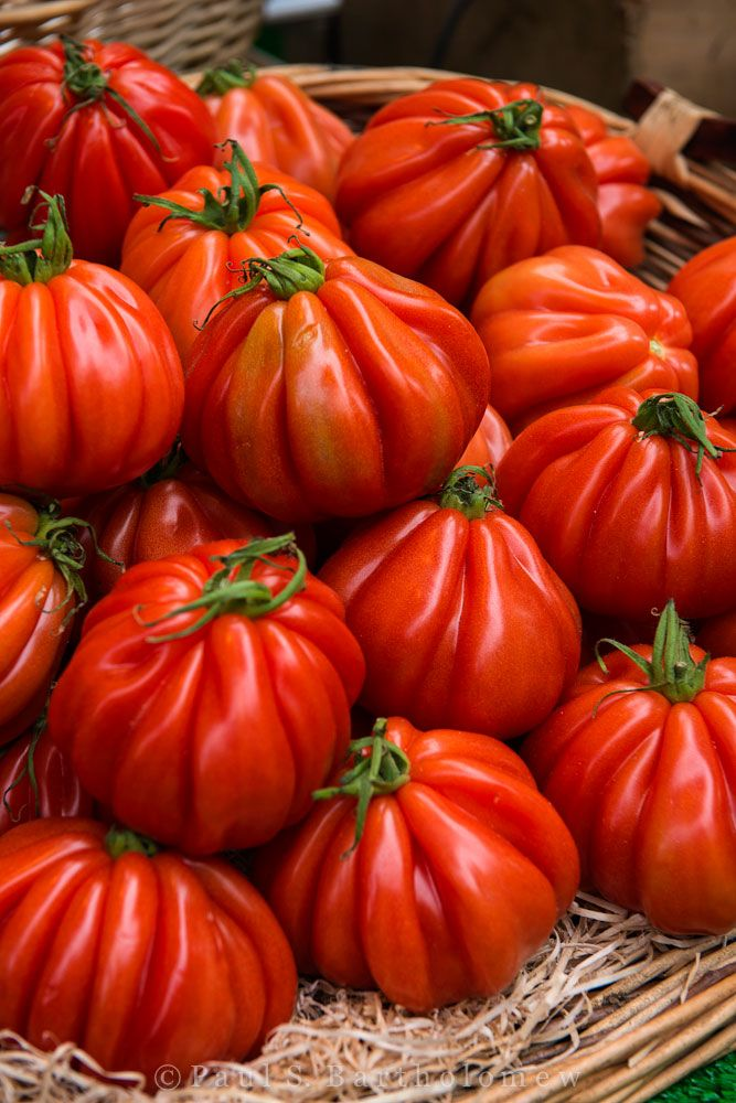 Heirloom Tomatoes at a Parisian Market @TheFramedTable