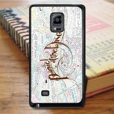 Panic At The Disco Lyric Samsung Galaxy Note 4 Case