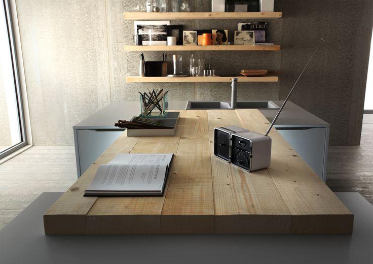 Photo by Photografica #bancone #penisola #modern #kitchen #wood