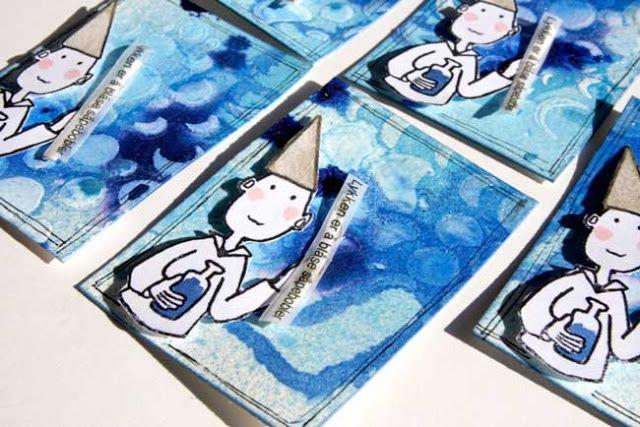 Andrine og Marens Landhandleri - Blog: Dt LindaB - Digger Artist Trading Cards