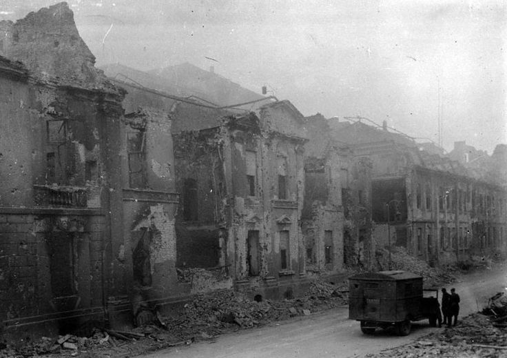 The bombed out headquarter of the secret nazi police