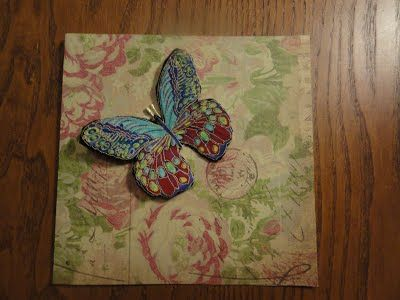 kaarten maken met stof en papier