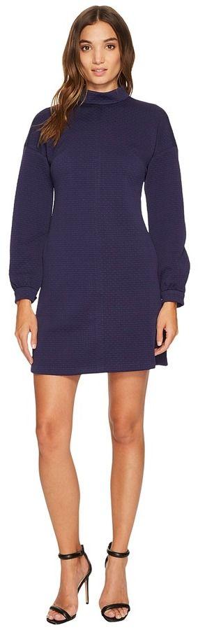 Donna Morgan Long Sleeve Mock Neck A-Line Dress Women's Dress