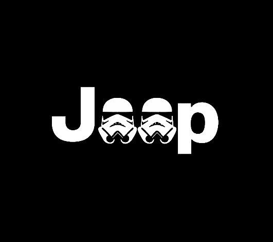 Jeep Stormtrooper - Vinyl Decal Choose Size and Color Made with 100% Automotive Grade Vinyl.