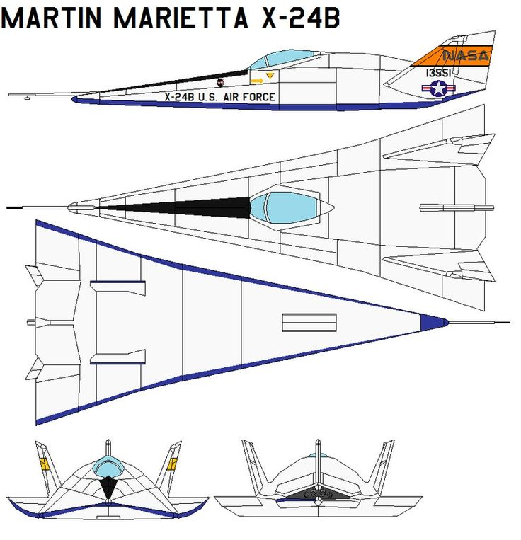 Martin Marietta X-24B The Martin Marietta X-24B was an experimental US aircraft developed from a joint USAF-NASA program named PILOT (1963-1975). It was designed and built to test lifting body conc...