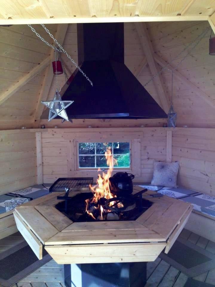 Inside our BBQ Hut - at The Cornish BBQ Hut Company