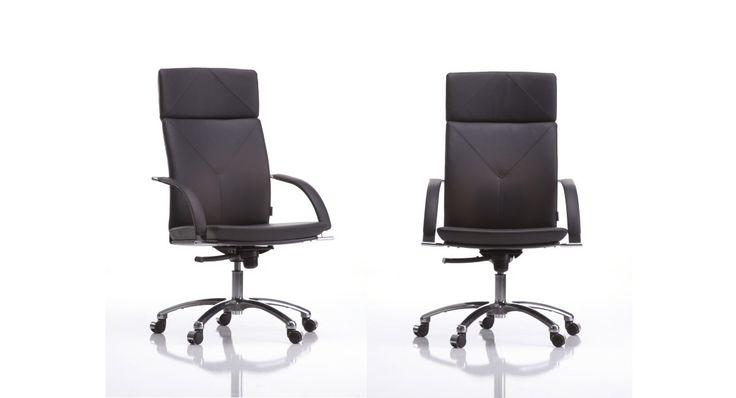 PRO to rodzina ekskluzywnych foteli. Obejmuje obrotowy fotel gabinetowy dostępny w wersji z zagłówkiem lub bez oraz fotel konferencyjny z niskim oparciem. Cechą charakterystyczną tych modeli jest eleganckie przeszycie oparć z ozdobnym trójkątem, elementy metalowe malowane lub chromowane, podłokietniki z przyjemną w dotyku tapicerowaną nakładką. #kleiber #lobos #krzesło #biuro #meblebiurowe #meble #furniture #work #design #chair #wnętrza