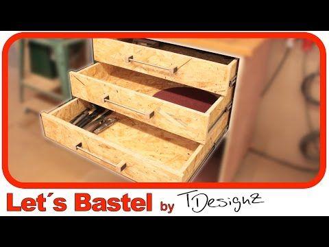 2/3) Werkstattschrank mit Schubladen selber machen. Einfach ...