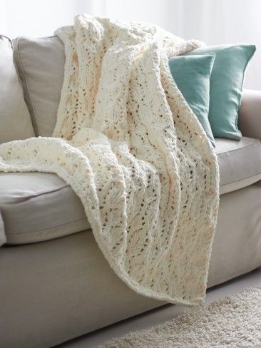 Yarnspirations Com Bernat Lofty Lacey Blanket Patterns