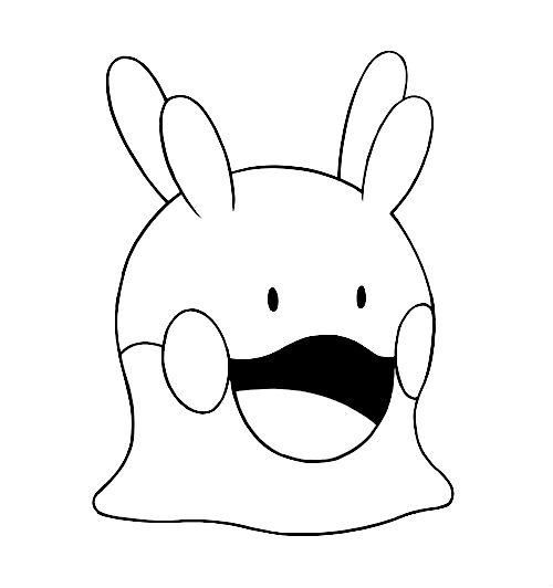 kleurplaat pokemonxandy goomy coloring http www