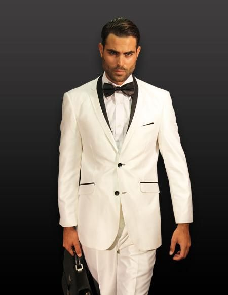 1000  images about White/Off-White Tuxedos on Pinterest | Discount