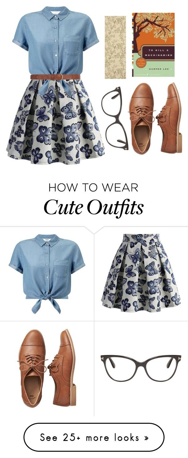 """Classic but Cute Book Outfit"" by kaylakay-1 on Polyvore featuring Chicwish, Miss Selfridge, Gap, Dorothy Perkins and Tom Ford"