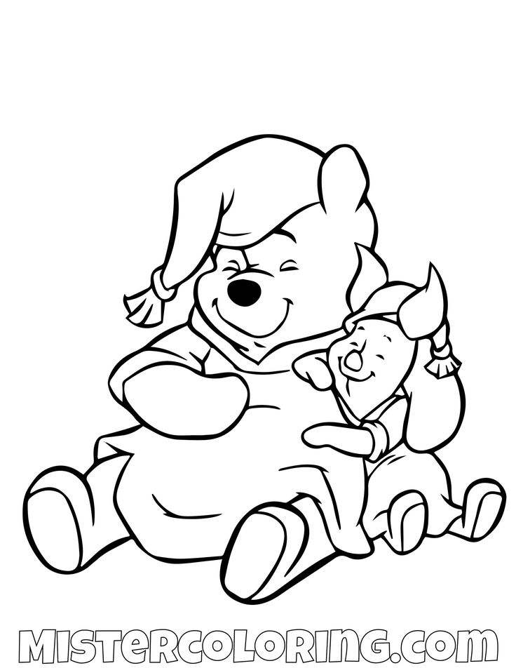 winnie the pooh coloring pages for kids — mister coloring