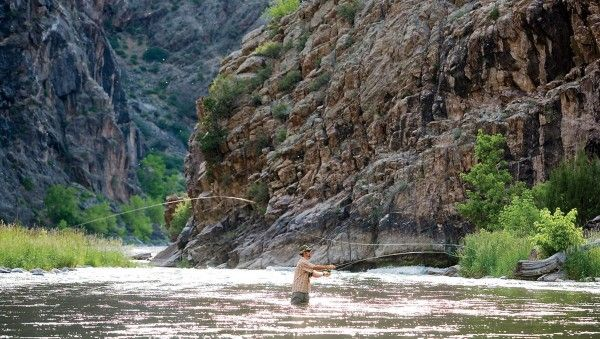 Colorado - Black Canyon of the Gunnison National Park.  To keep it mellow, hike the two-mile Oak Flat Trail, which dips 400 feet into the gorge on a maintained section, or walk the three-quarters of a mile out to Warner Point, the park's highest spot.