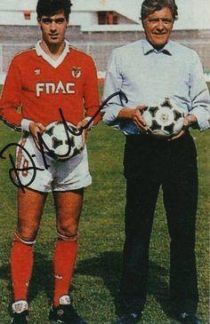 Rui Águas com o seu pai, José Águas, bicampeão europeu.
