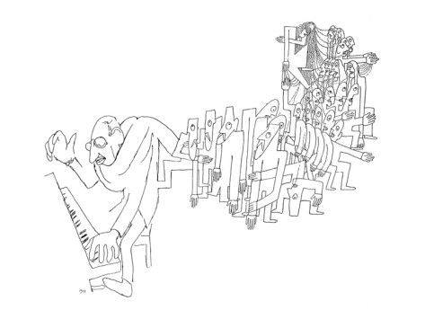 オールポスターズのジャン・コクトー「Igor Stravinsky (1882-1971)」高品質プリント