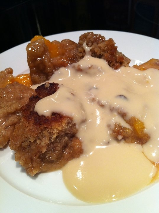 Parker County Peach Crisp with Maple Cream Sauce - From The Pioneer ...