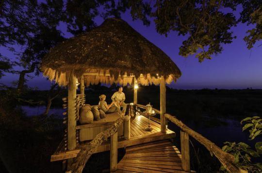 Wonderful evening atmosphere at Mombo Camp (Okavango Delta, Botswana). Any questions: info@gondwanatoursandsafaris.com - we reply within 24h!