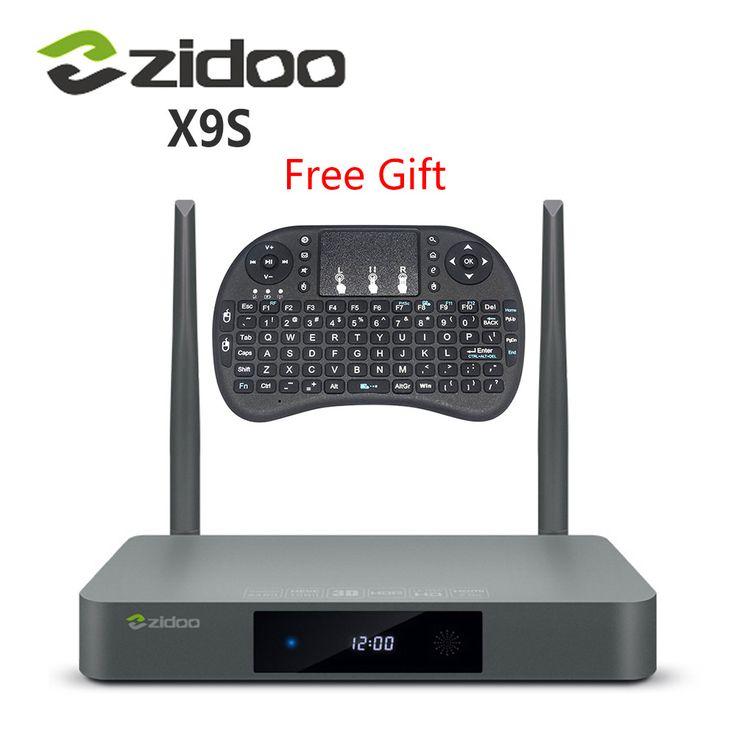 מקורי zidoo x9s הטלוויזיה box אנדרואיד 6.0 + openwrt (nas) realtek rtd1295 2 גרם/16 גרם סט 802.11ac top box הטלוויזיה media player