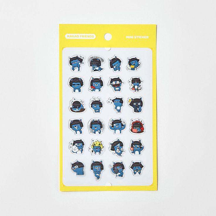 Korea Kakao Talk Friends Character Transparent Mini Sticker Neo #KakaoFriends #Transparentstickers