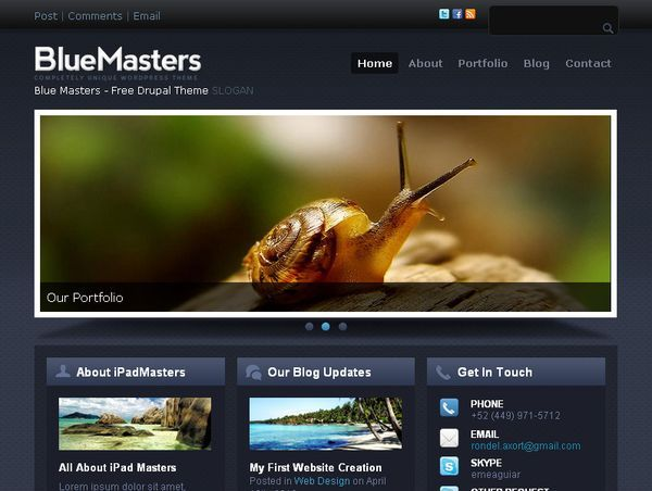 http://www.victoo.net/bluemasters-free-drupal-template-460.html