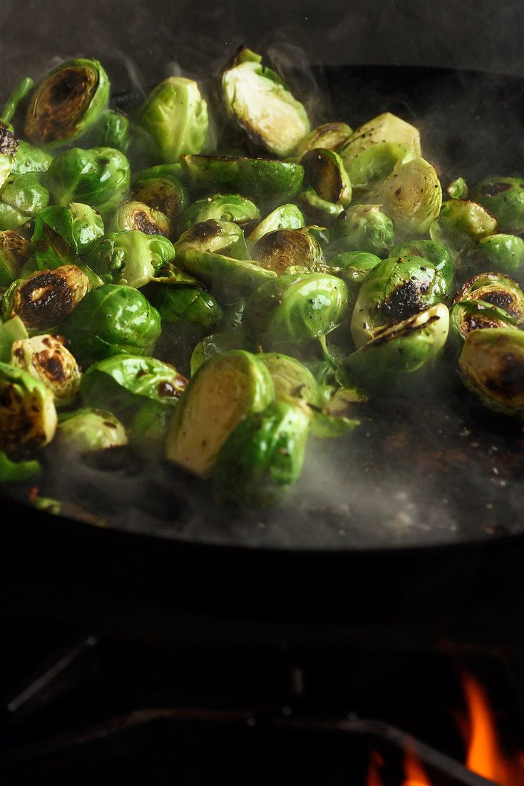 NYT Cooking: This is sort of a no-recipe recipe for brussels sprouts that will have you wanting to make them every day of the week. Once you memorize the proportions, you can vary the fat and seasonings any which way you like. One important tip: Having a large enough skillet is key, so the sprouts have a chance to brown on one side before steaming and turning to mush.