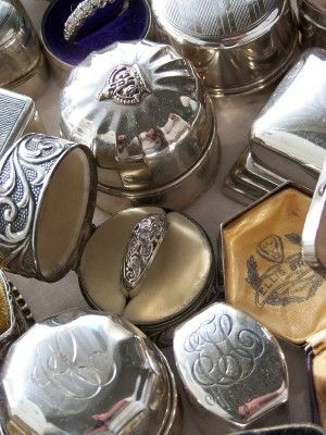 Antique Ring Boxes! A grouping of these on a table would be stunning- and you can get them laquered if you don't want to polish.