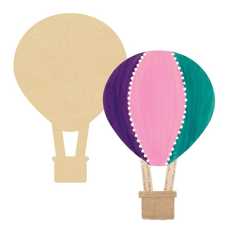 Create a beautifl play room with this Giant Wooden Hot Air Balloon - CleverPatch