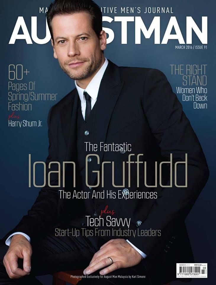 Ioan Gruffudd on the cover of August Man Malaysia - March 2016.