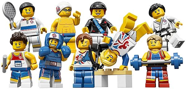 "LEGOlympians  *giggle*  -- couldn't resist; officially, ""Limited Edition LEGO Minifigures Olympic Team"""