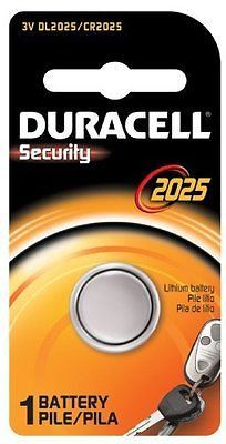 Duracell Security Battery 3 V Model No. 2025 Carded