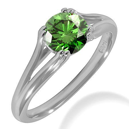 97 Best Green Diamond Rings Images On Pinterest