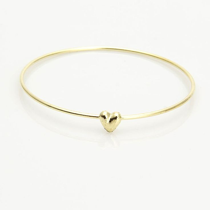 Elements Open Double Rope Heart Bangle - Silver/Gold Silver