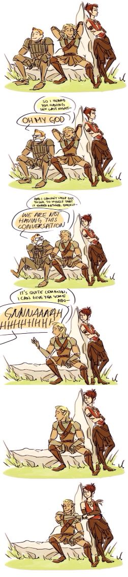 Dragon Age banter is beautiful...