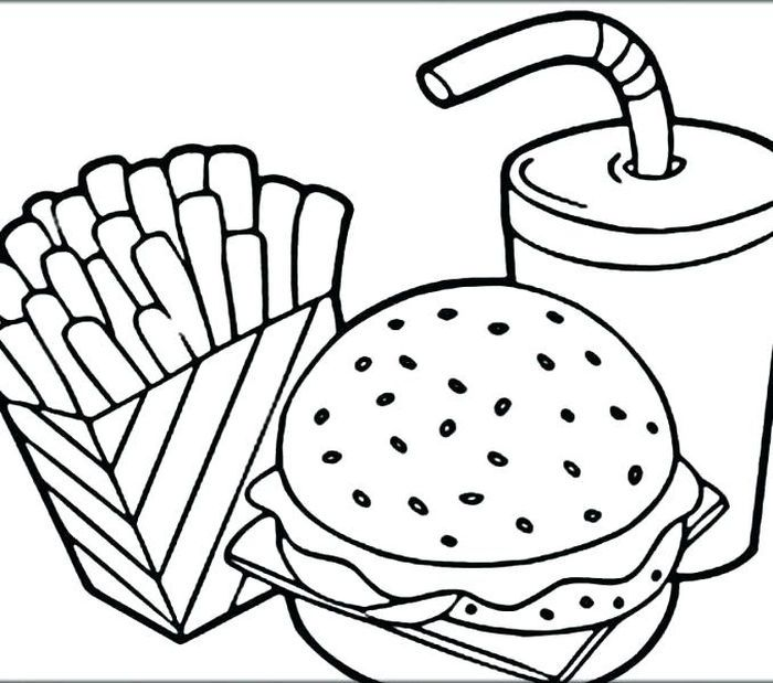 44+ Cute cartoon food coloring pages ideas