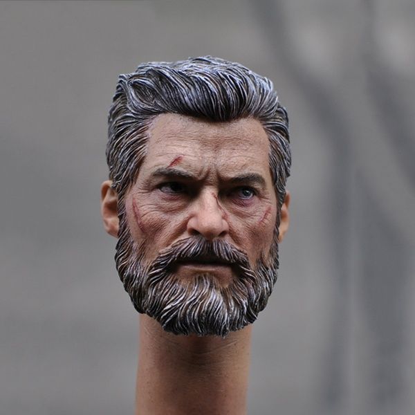 1//6 X-Men Wolverine Hugh Jackman Logan Head Sculpt for 12/'/'Figure Body