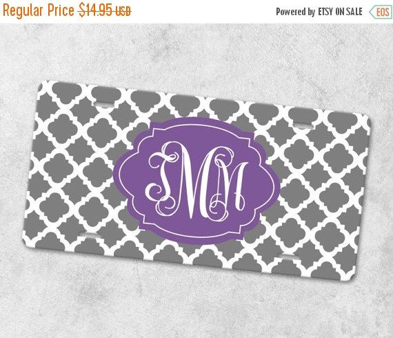ON SALE Monogram License Plate - Front Car Tag - Personalized License Plate - Front License Plate - Metal Car Tag - New Driver Gift - Quatre by AlloraGifts on Etsy https://www.etsy.com/listing/254975973/on-sale-monogram-license-plate-front-car