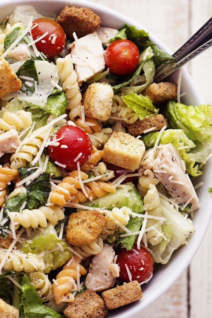 <p style=margin: 0px;font-size: 12px;line-height: normal;font-family: Lucida Grande>A healthier way to make the classic caesar salad! Fresh romaine tossed with chicken, cherry tomatoes, shredded parmesan cheese, croutons and a vegetable pasta adds a fun new texture!</p> <p style=margin: 0px;font-size: 12px;line-height: normal;font-family: Lucida Grande><em><strong><a href=http://therecipecritic.com/2015/01/chicken-caesar-pasta-salad/ target=_blank>Get the recipe here!</a></...