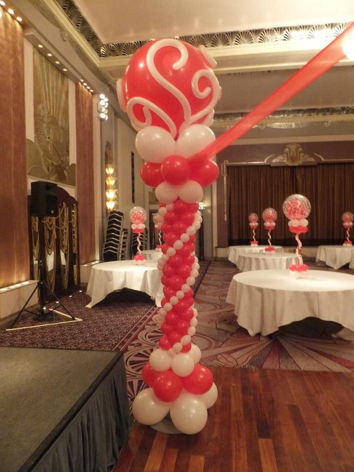115 best images about balloon decor ideas on pinterest for Balloon column decoration