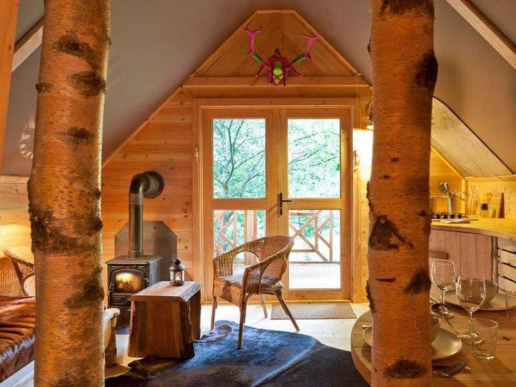 Houten huisjes van Les Cabanes de Rensiwez